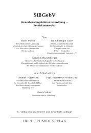 Inhaltsverzeichnis StBGebV - Erich Schmidt Verlag