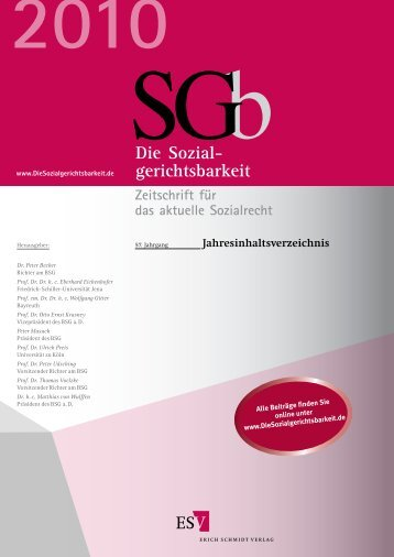 Jahresinhaltsverzeichnis 2010