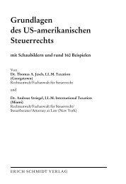 Grundlagen des US-amerikanischen Steuerrechts - Erich Schmidt ...