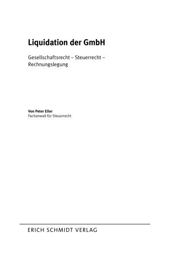 liquidation der gmbh buecherde - Liquidationseroffnungsbilanz Muster