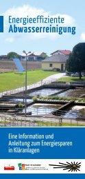 Energieeffiziente Abwasserreinigung - OÖ Energiesparverband