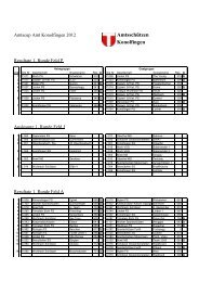 1. Runde Amtscup 2012