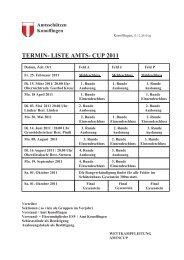 TERMIN- LISTE AMTS- CUP 2011