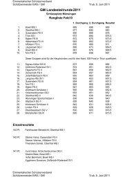 Rangliste Lt.runde 11 - Emmentalischer Schützenverband