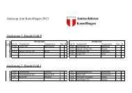 3. Runde Amtscup 2013