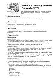 Stellenbeschreibung Sekretär / Pressechef ESV - Emmentalischer ...