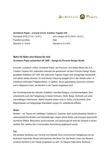 Architects Paper präsentiert AP 1000 – Design by Porsche