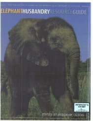 Elephant Husbandry Resource Guide - Documents at Burningbird