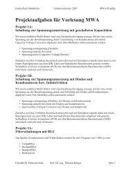 L:\Lokaler Datenträger (C)\FH\MWA\Projekte_SS07.vp - Fakultät für ...