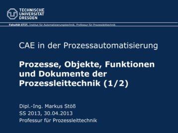 Prozesse, Objekte, Funktionen und Dokumente der Prozessleittechnik