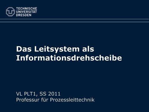 Das Leitsystem als Informationsdrehscheibe