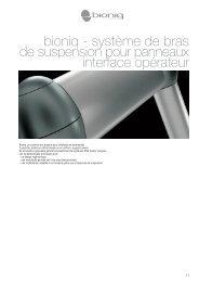 bioniq - système de bras de suspension pour panneaux ... - ETA