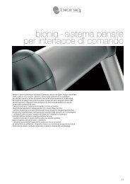 bioniq - sistema pensile per interfacce di comando - ETA
