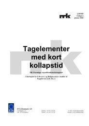 Tagelementer med kort kollapstid - ETA-Danmark