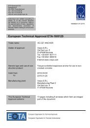 European Technical Approval ETA-10/0125 - ETA-Danmark