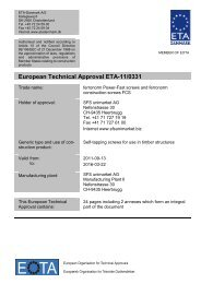 European Technical Approval ETA-11/0331 - ETA-Danmark