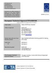 European Technical Approval ETA-05/0128 - ETA-Danmark
