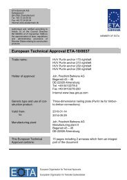 European Technical Approval ETA-10/0037 - ETA-Danmark