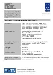 European Technical Approval ETA-09/0133 - ETA-Danmark