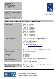European Technical Approval ETA-08/0203 - ETA-Danmark