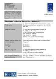 European Technical Approval ETA-09/0105 - ETA-Danmark