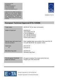 ETA130266 HB ERSF CE Rebar - ETA-Danmark