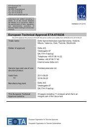 European Technical Approval ETA-07/0238 - ETA-Danmark