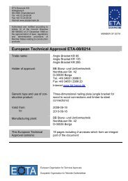 European Technical Approval ETA-08/0214 - ETA-Danmark