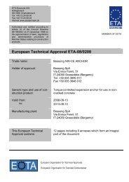 European Technical Approval ETA-08/0208 - ETA-Danmark
