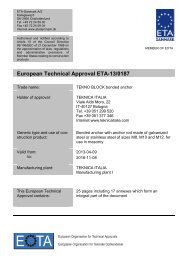 ETA130187 Teknica Tekno block - ETA-Danmark