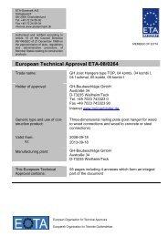 European Technical Approval ETA-08/0264 - ETA-Danmark