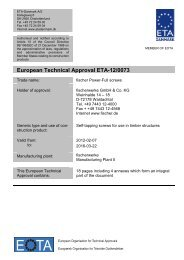 European Technical Approval ETA-12/0073 - ETA-Danmark