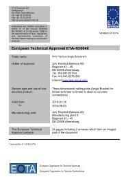 European Technical Approval ETA-10/0040 - ETA-Danmark