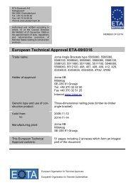European Technical Approval ETA-09/0316 - ETA-Danmark