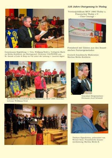 125 Jahre Chorgesang in Tholey - Editions Etaina Verlag Martina ...