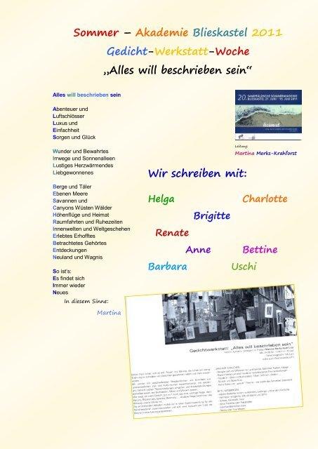 Will Beschrieben Sein Editions Etaina Verlag Martina Merks