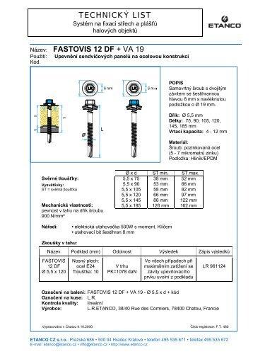 Technický list - PDF - etanco