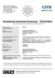 Europäische technische Zulassung ETA-01/0014 - Friulsider