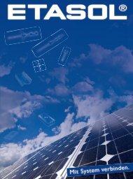 Solarbefestigungssysteme für Photovoltaikanlagen - Etasol-solar ...
