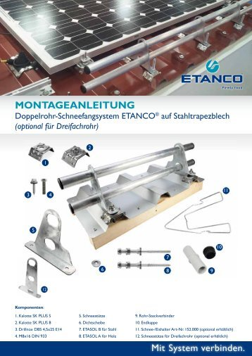 Montageanleitung Schneefang - Etanco