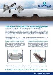 ColorGard® und SnoGard™ Schneefangsysteme - Etanco