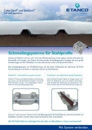 Schneefangsysteme für Stahlprofile - Etanco