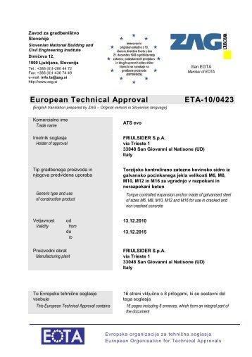 ETA-10-0423-ATS evo - Etanco