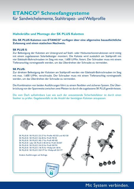 Schneefang Photovoltaik - Etasol-solar-zubehoer.de