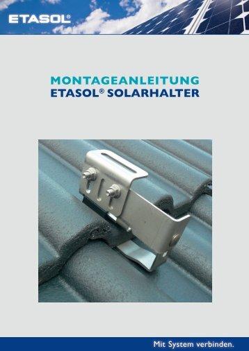 ETASOL® Solarhalter für Ziegeldächer - Etasol-solar-zubehoer.de