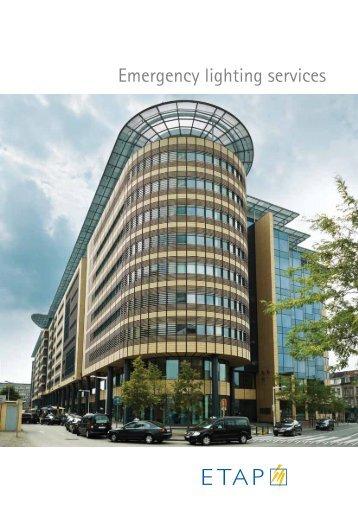 Emergency lighting services − (0.75 Mb) - ETAP Lighting