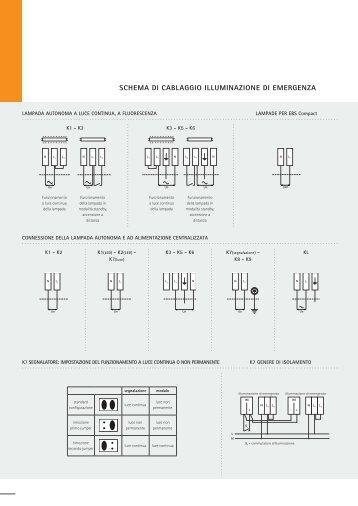 SCHEMA DI CABLAGGIO ILLUMINAZIONE DI ... - ETAP Lighting