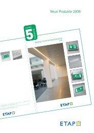 Neue Produkte 2009 – Sicherheitsbeleuchtung - ETAP Lighting