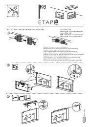 Instrucciones de montaje K6E84 - ETAP Lighting