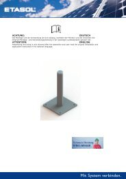 FDS Solarstuetzen Flachdach - Etasol-solar-zubehoer.de